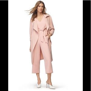 Soia & Kyo blush pink trench coat Sera belted XXS